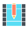 film strip silhouette icon video symbol vector image vector image