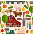 Flat Farm Pattern vector image vector image