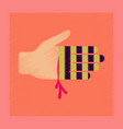 flat shading style icon bloody hand vector image vector image