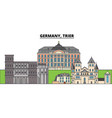 germany trier city skyline architecture vector image vector image