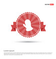 gloves icon - red ribbon banner vector image