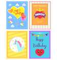 happy birthday princess card vector image vector image