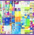 image with imitation of grunge datamoshing vector image