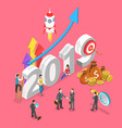 isometric concept of 2019 - year of vector image vector image