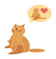 loving cats vector image