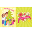 merry christmas best wishes vector image vector image