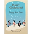 Merry Christmas card with funny sheep 2015 vector image vector image