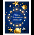 merry christmas happy new year poster vector image vector image