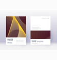 minimalistic cover design template set gold abstr