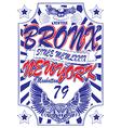 New york Vintage Slogan Man T shirt Graphic Design vector image vector image