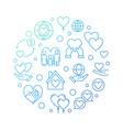nonprofit organization circular blue vector image vector image