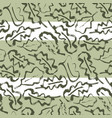 oak leaf striped seamless pattern vector image vector image