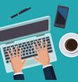 office work topview vector image vector image