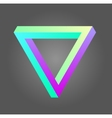 Penrose triangle in neon colors vector image vector image