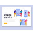 phone interaction banner vector image