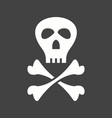 pirate sign vector image vector image