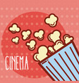 pop corn box cinema cartoon vector image