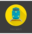 Railway Flat Icon vector image