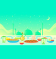 ramadan kareem iftar party celebration vector image