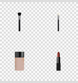 realistic concealer fashion equipment powder vector image vector image