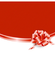 Red Frame With Ribbon Bow vector image vector image