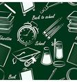 school item seamless2 vector image vector image