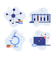 science research concept set - chemistry education vector image