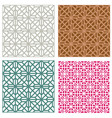 seamless line pattern in modern korean style vector image vector image