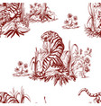 seamless pattern in chinoiserie style for fabric vector image vector image
