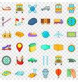 slow delivery icons set cartoon style vector image vector image