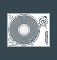 solid color vinyl turntable device vector image
