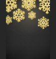 sparkling glitter covered gold snowflake vector image
