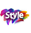 style paper poster with colorful brush strokes vector image