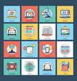 technical pack of web development vector image vector image