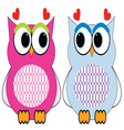 Valentine Owls vector image vector image