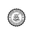 vintage coffee logo emblem vector image vector image