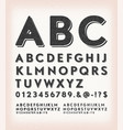 vintage grunge and tattoo abc font vector image vector image