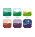 visualization various times day morning vector image