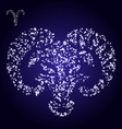 Zodiac sign of aries made of stars vector image
