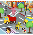animals at crossroads vector image