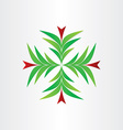 christmas tree decoration background vector image