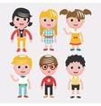Set of kids on white backgroundDifferent dress vector image