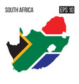 south africa map border with flag eps10 vector image