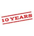10 Years Watermark Stamp vector image