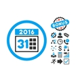 2016 Month Flat Icon with Bonus vector image vector image