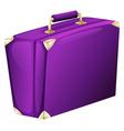 A purple case bag vector image vector image