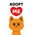 adopt me dont buy cat pet adoption vector image vector image