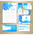 Airplane watercolor artistic document template vector image