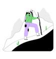 backpacker traveler or explorer with backpack vector image vector image