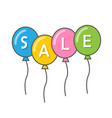balloons and beginning sale vector image vector image